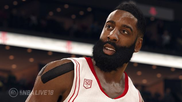 NBA Live 18 ha una data di lancio; Harden uomo cover