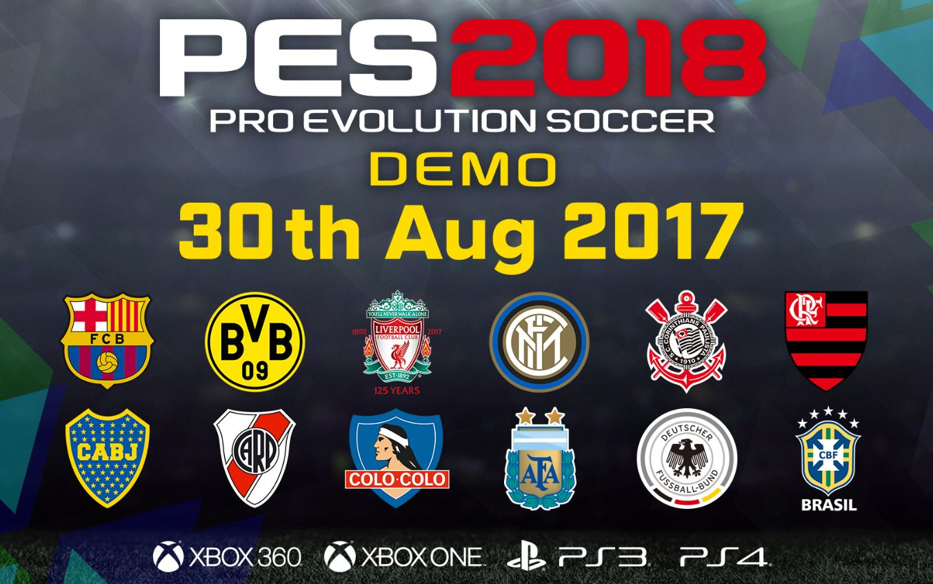 PES 2018, la demo è ora disponibile su console