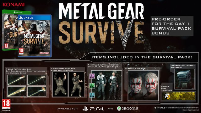 Svelata la data di uscita di Metal Gear Survive